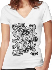 Buuuu!!!! Women's Fitted V-Neck T-Shirt