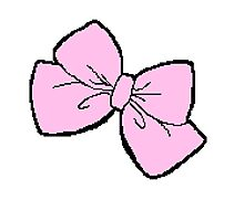 Pink Bow Photographic Print