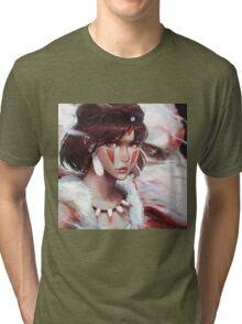 Mononoke Wolf Tri-blend T-Shirt