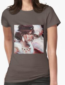 Mononoke Wolf Womens Fitted T-Shirt