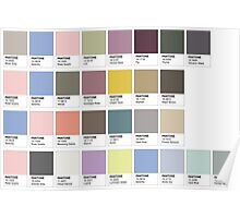Colour Swatches Poster