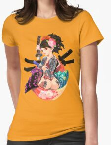 Yakuza Girl Womens Fitted T-Shirt