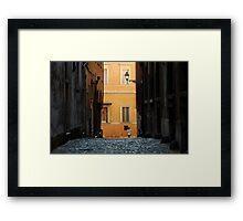 Streetscape in Orange  Framed Print