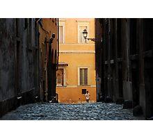 Streetscape in Orange  Photographic Print