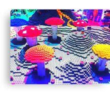 Lego Mushroom Land Canvas Print
