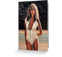 Farrah Fawcett Painting Greeting Card