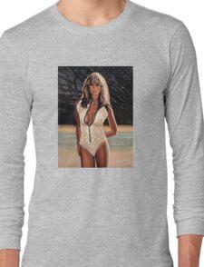 Farrah Fawcett Painting Long Sleeve T-Shirt