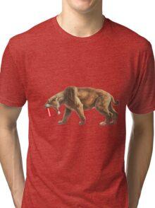 """Saber"" Tooth Tiger Tri-blend T-Shirt"
