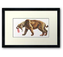 """""""Saber"""" Tooth Tiger Framed Print"""