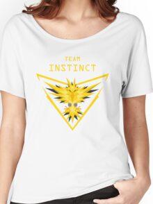 Team Instinct - yellow Pokemon go Women's Relaxed Fit T-Shirt
