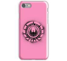 Battlestar Galactica Grunge - Pink Line iPhone Case/Skin