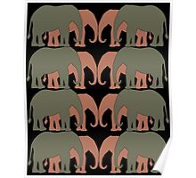 Elephants Two by Two Poster