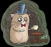 Sir Hamster with tea by Kopfzirkus