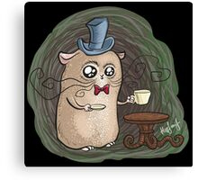 Sir Hamster with tea Canvas Print