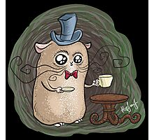 Sir Hamster with tea Photographic Print