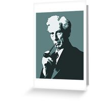 Thinkers - Bertrand Russell (blue) Greeting Card
