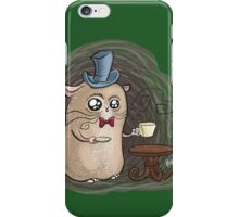 Sir Hamster with tea iPhone Case/Skin