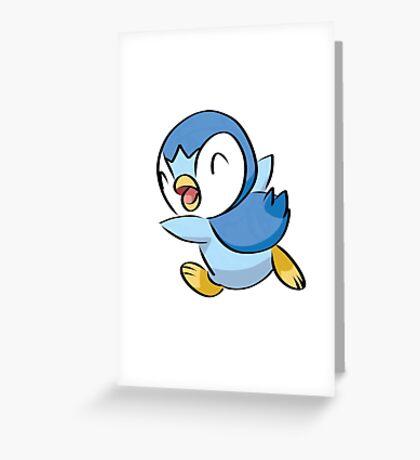 Piplup Pokemon Greeting Card