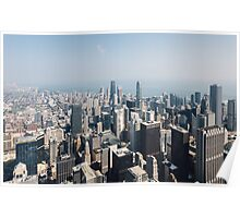 High Above Chicago (Color) Poster