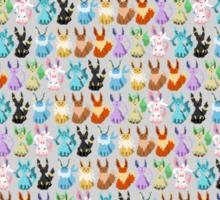 Pixel Eevees Sticker