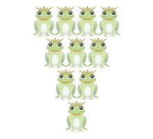 Royal Frog Formation by Jean Gregory  Evans