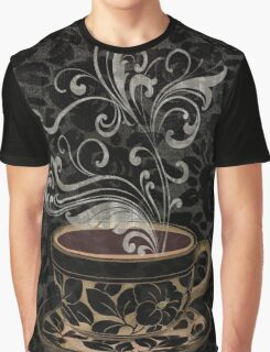 Cafe Noir I Coffee Damask Graphic T-Shirt
