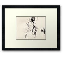 Jesus protects Mary Magdalene Framed Print