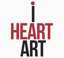 I HEART ART II Kids Tee