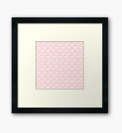 Baby Bunny / Pink Framed Print