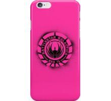 Battlestar Galactica Grunge - Hot Pink Line iPhone Case/Skin