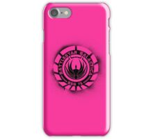 Battlestar Galactica Grunge - Hot Pink Line iPhone Case/Skin