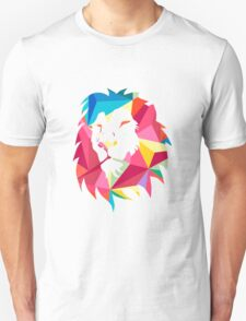 Triangle Geometric Lion Unisex T-Shirt