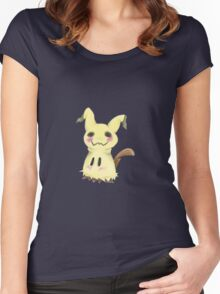 Mimikkyu Print Women's Fitted Scoop T-Shirt