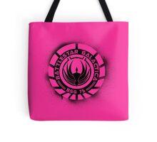 Battlestar Galactica Grunge - Hot Pink Line Tote Bag
