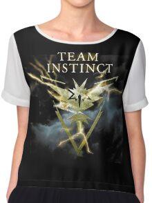 Team Yellow Instinct - Pokemongo storm night  Chiffon Top