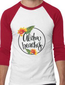 Aloha Beaches Men's Baseball ¾ T-Shirt