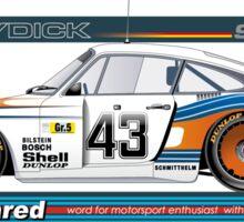"""PORSCHE 935 78 """"MOBY DICK"""" Group 5 Sticker"""