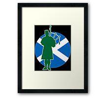 Scottish Piper Flag Framed Print