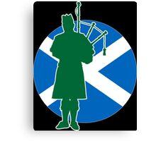 Scottish Piper Flag Canvas Print