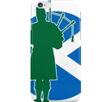 Scottish Piper Flag iPhone Case/Skin