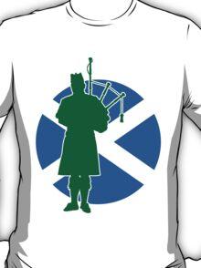 Scottish Piper Flag T-Shirt
