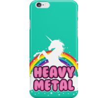 heavy metal parody funny unicorn rainbow iPhone Case/Skin