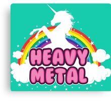 heavy metal parody funny unicorn rainbow Canvas Print