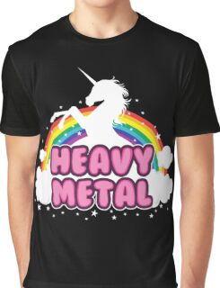 heavy metal parody funny unicorn rainbow Graphic T-Shirt