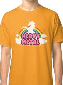 heavy metal parody funny unicorn rainbow Classic T-Shirt