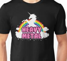 heavy metal parody funny unicorn rainbow Unisex T-Shirt