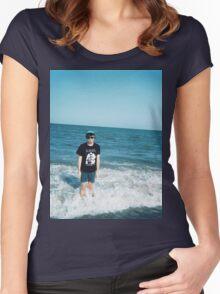 Elvis Depressedly Ocean Women's Fitted Scoop T-Shirt