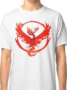 Team Valor pokemon go red flames fire Classic T-Shirt