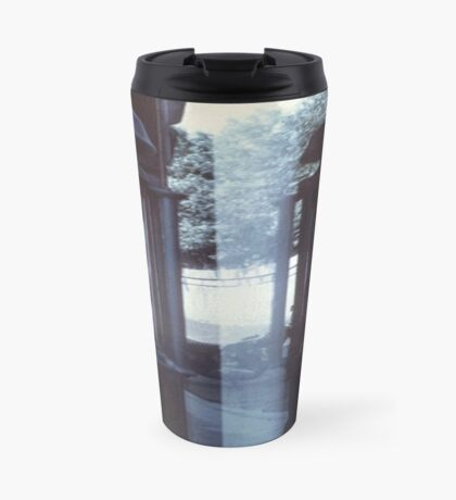 Barbershop Pole Reflection Travel Mug