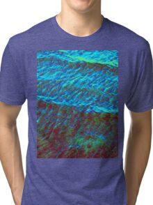 Waves Green-Blue DPG160608d Tri-blend T-Shirt